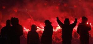 A rally against car import duties in Krasnoyarsk, Russia