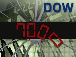 ABC News Dow Industrials Fall Below 7,000; Lowest Since '97