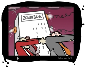 Zombie Bank  Mark Fiore's Animated Cartoon Site