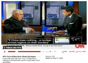 キッシンジャーとザカリア(CNN) GPS: Fareed Interviews Henry Kissinger