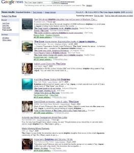 「The Cove Japan dolphin」Google News検索結果