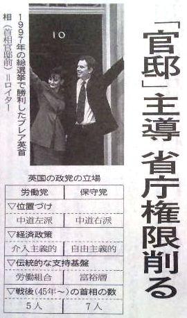日経:政権交代海外の事例にみる(上)英国
