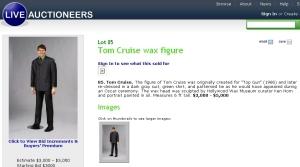 Tom Cruise wax figure