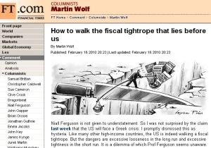 FT:How to walk the fiscal tightrope that lies before us