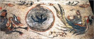 三本足カラスの謎を追う 太陽の中に描かれた三足烏。高句麗の壁画。