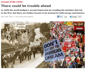 英エコノミスト誌もバック・トゥ・ザ・フューチャー:「1930年代の教訓を無視すれば、歴史は繰り返す」