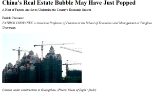 China's Real Estate Bubble May Have Just Popped