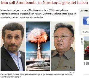 北朝鮮が2010年の4月と5月に核実験、うち1回はイランのために=独紙ヴェルト