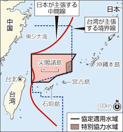 尖閣ゲーム社説集:中台連携にくさびの一手、「日台漁業協定」に中国反発